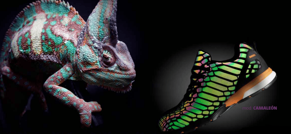 calzado fotoluminiscente