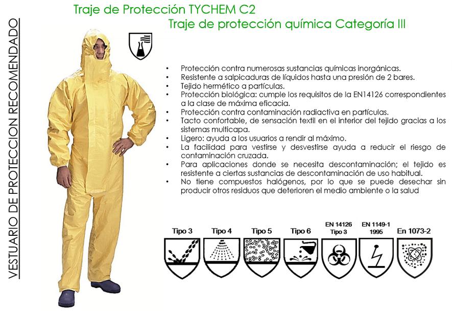 traje proteccion quimica contra ebola