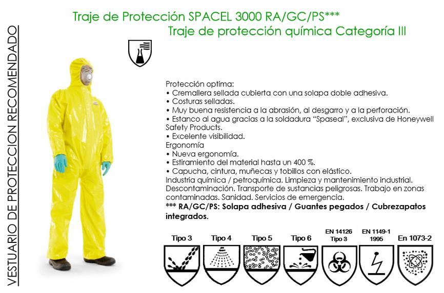 traje proteccion quimica ebola