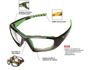textura clara alta moda liquidación de venta caliente gafas de seguridad graduadas – Proin-Pinilla