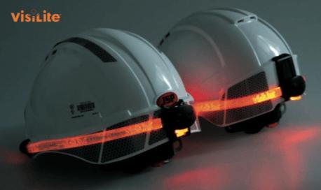 casco con iluminación