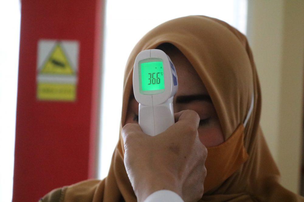 medición de temperatura covid