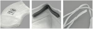 mascarilla de pliego vertical ffp3